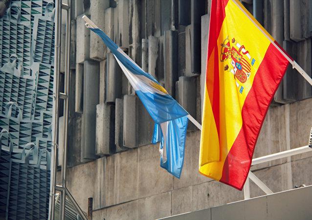 Banderas de Argentina y España