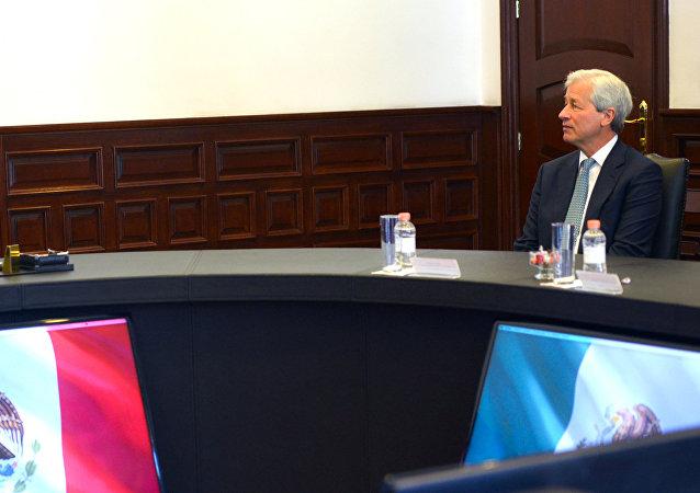 La reunión entre el presidente de México, Enrique Peña Nieto y el presidente del consejo y director general de JP Morgan, Jamie Dimon