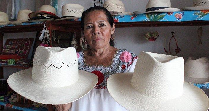 Elaboración de sombreros de jipijapa