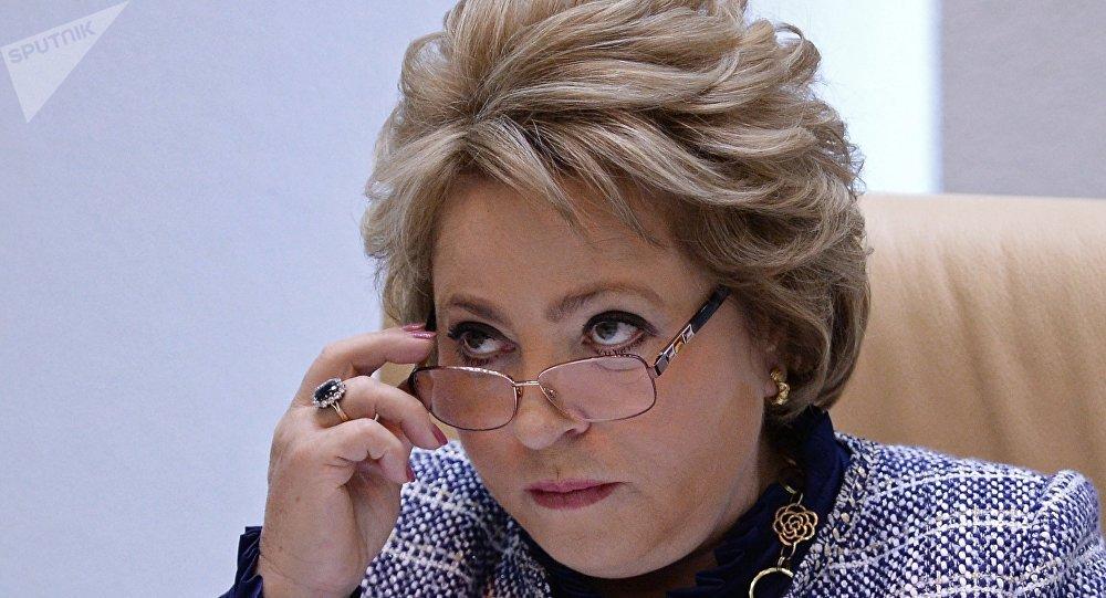 Valentina Matvienko, presidenta del Senado ruso