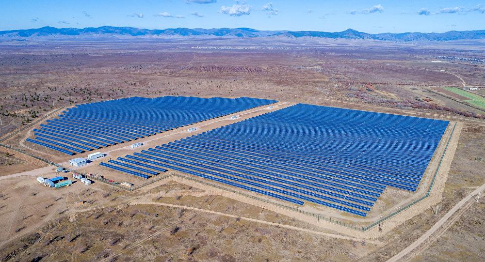 La planta solar en Buriatia