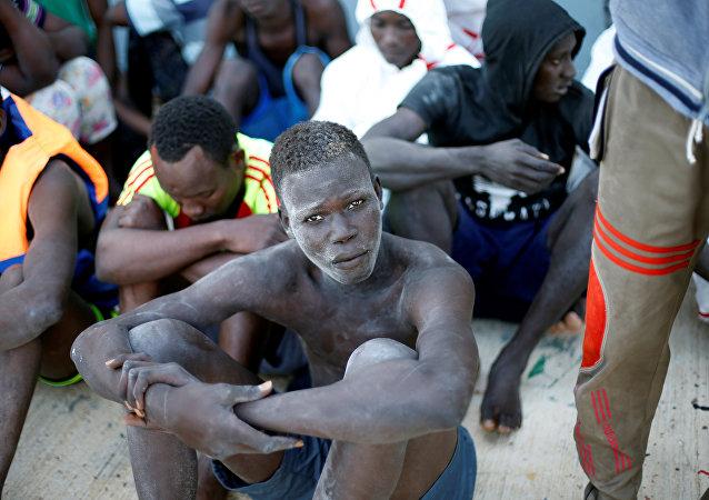 Los migrantes libios