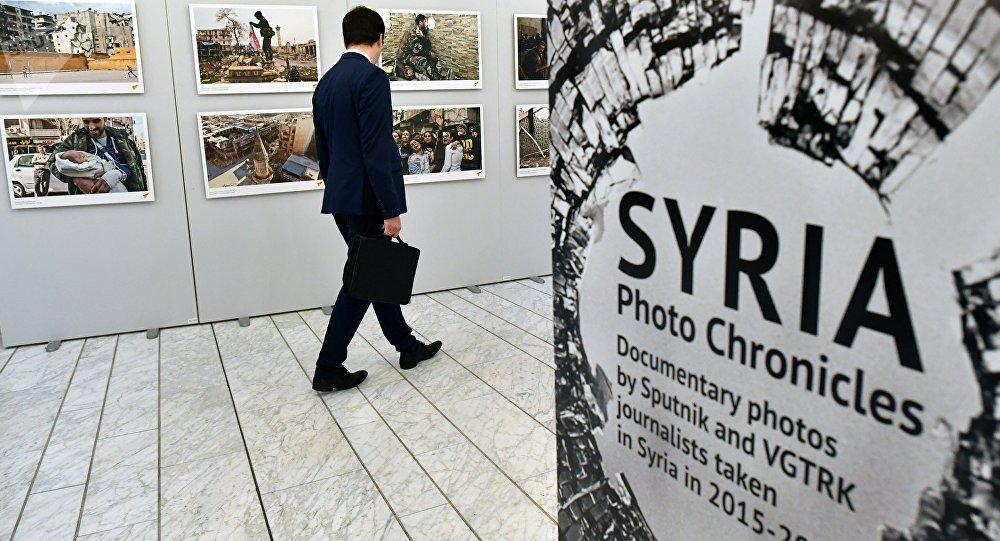 Exposición rusa de fotos sobre guerra en Siria