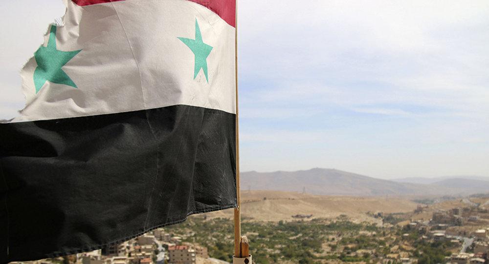 Bandera siria en Damasco (archivo)