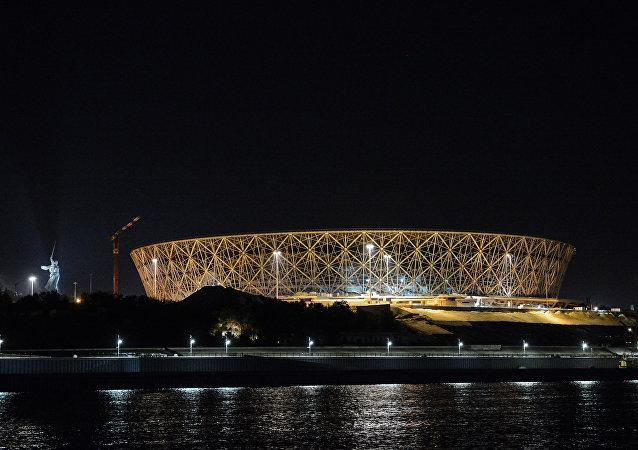 La construcción del estadio para el Mundial 2018 en Volgogrado