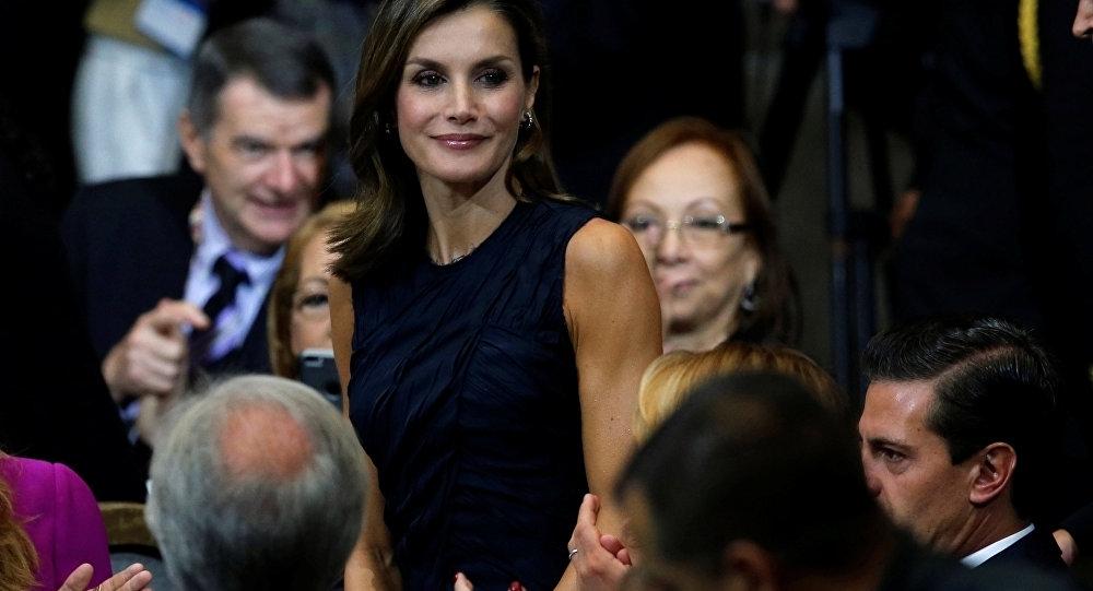 La reina de España, Letizia y el presidente de México, Enrique Peña Nieto en México