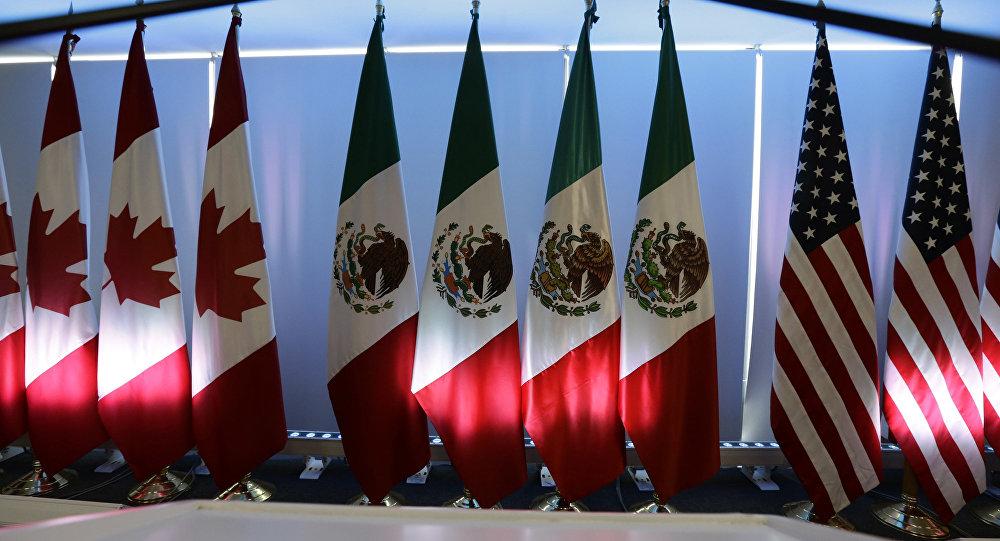 Banderas de México, Canada y EEUU (archivo)