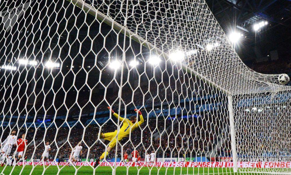 Los momentos más intensos del partido amistoso entre Rusia y España