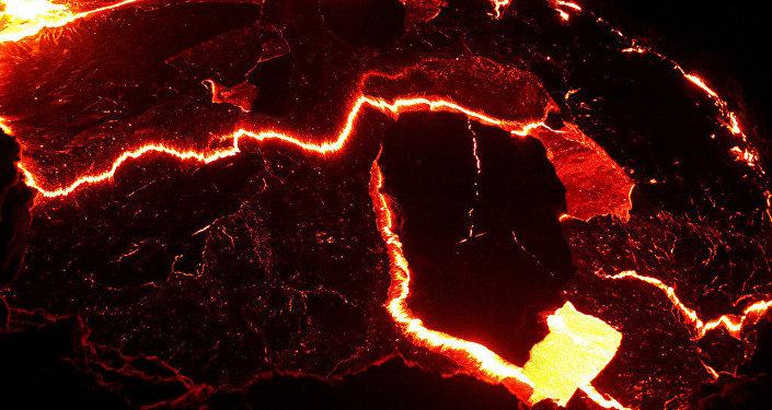 Un volcán etíope