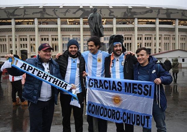 Hinchas argentinos en Rusia