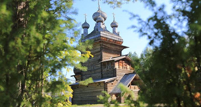 Museo Malie Koreli de arquitectura de madera, en Arjánguelsk