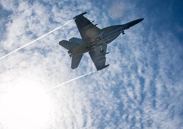 Un caza EA-18G Growler (archivo)