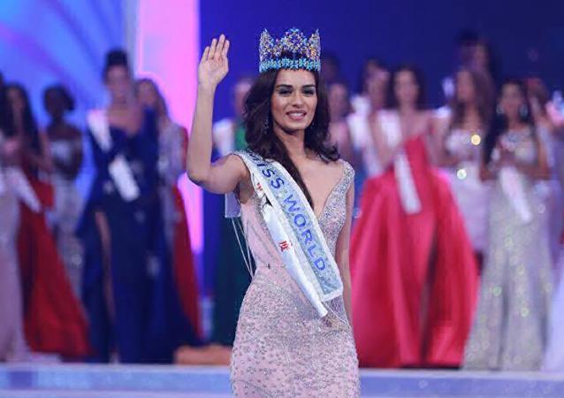 Manushi Chhillar, ganadora del concurso Miss Mundo 2017