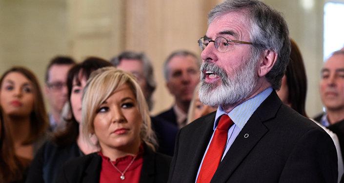 El histórico líder del Sinn Fein, Gerry Adams