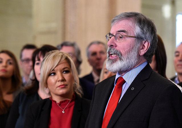 El histórico líder del Sinn Féin, Gerry Adams