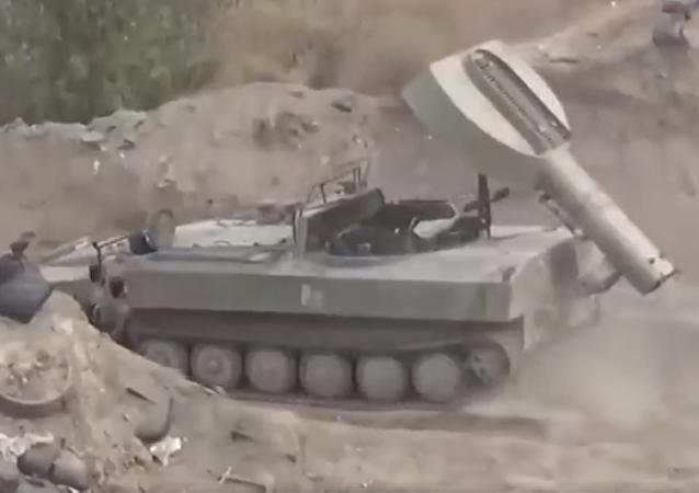 El misterioso 'tanque lanzapuentes' sirio resultó ser un híbrido (vídeo)