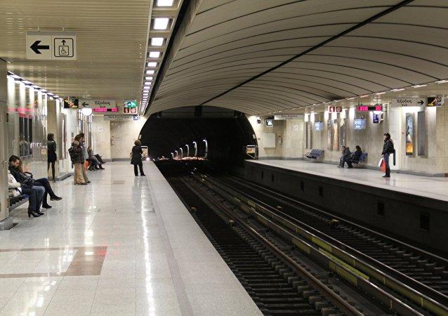 El metro de Atenas, Grecia