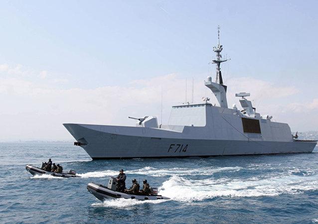 Fragata francesa F714 Guepratte de clase La Fayette (archivo)