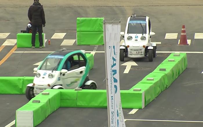 Los robots retan a pilotos de carreras en Corea del Sur