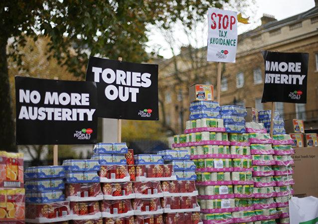 Protestas contra las políticas de austeridad en Londres