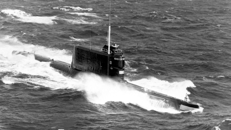 Un submarino de la clase 629A, la misma a la que pertenecía el soviético K-129