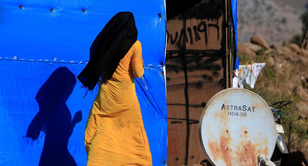 Una mujer siria en un campo de refugiados (archivo)
