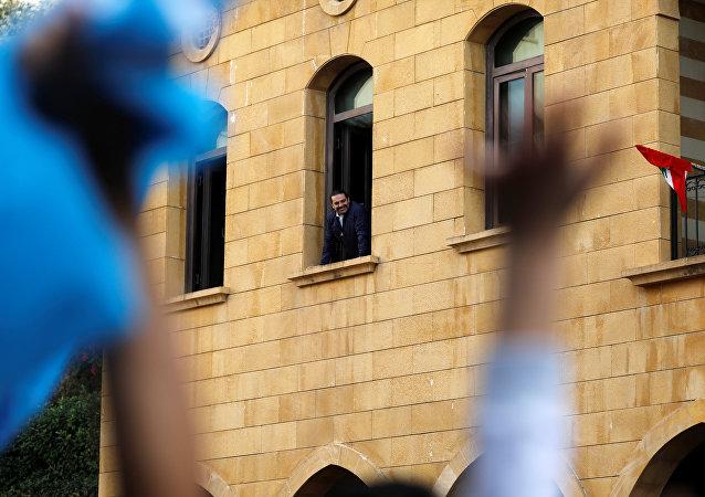 Saad Hariri, primer ministro del Líbano, en su casa en Líbano