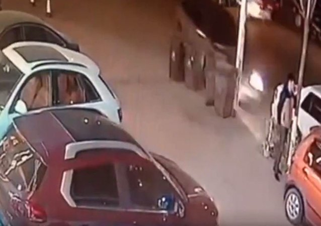 Un accidente en China grabado por una cámara de vigilancia