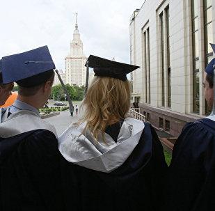 Los graduados de la Universidad Estatal de Moscú (archivo)