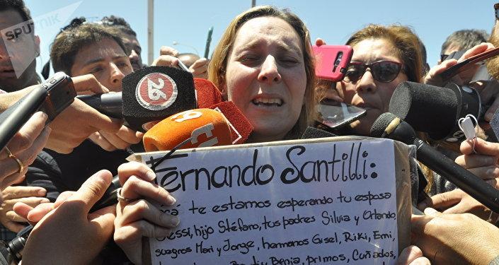 Jessica Gopar, esposa de uno de los 44 tripulantes del submarino argentino ARA San Juan