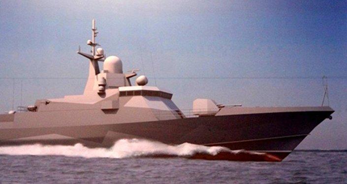 Diseño del buque de misiles pequeño del proyecto 22800
