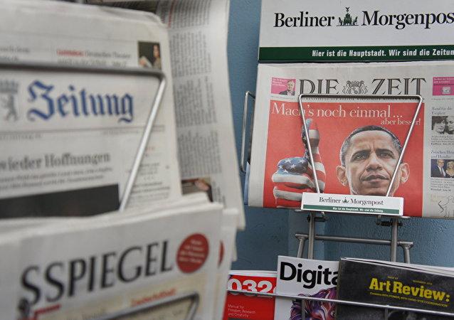 Periódicos alemanes (imagen referencial)