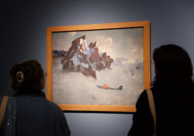 Una obra del pintor ruso Aleksander Deineka