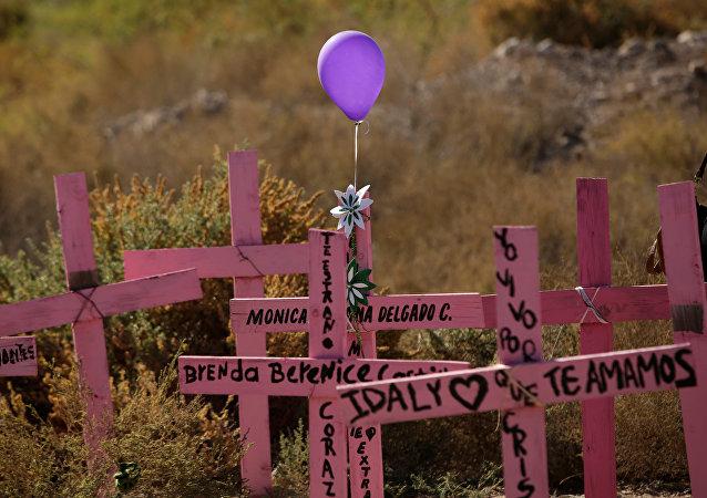 Manifestación en memoria de mujeres desaparecidas en México en el marco de las conmemoraciones del Día Internacional para la Eliminación de la Violencia contra la Mujer
