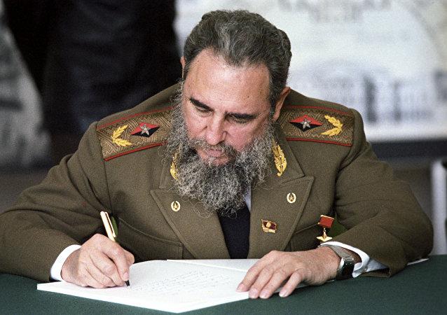 Fidel Castro durante su visita a Moscú en 1986