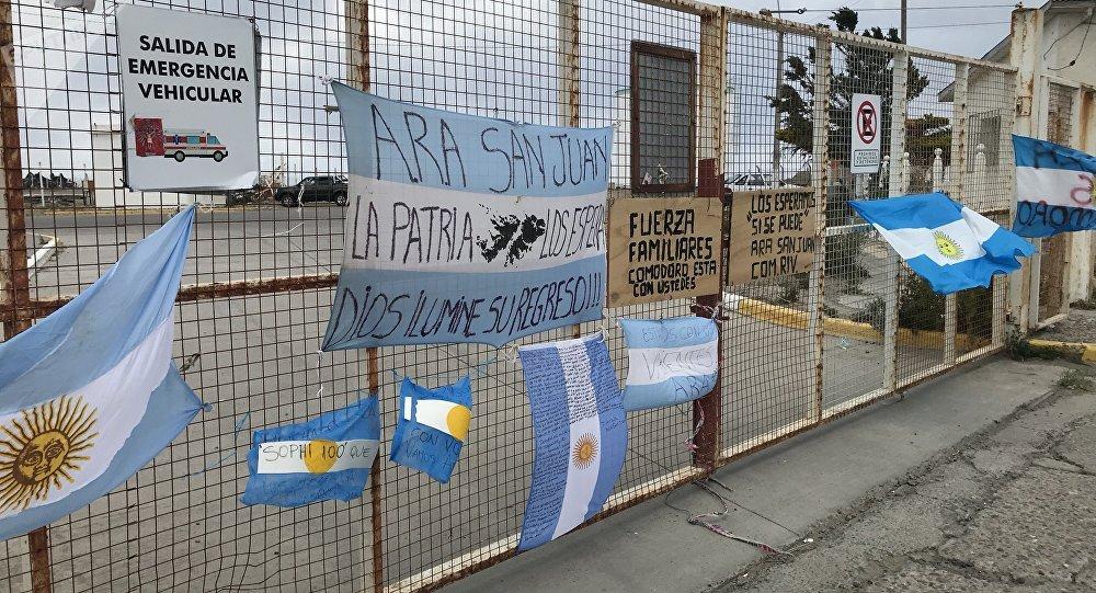 Situación en el puerto Comodoro Rivadavia, uno de los centros de la operación de búsqueda del ARA San Juan (archivo)