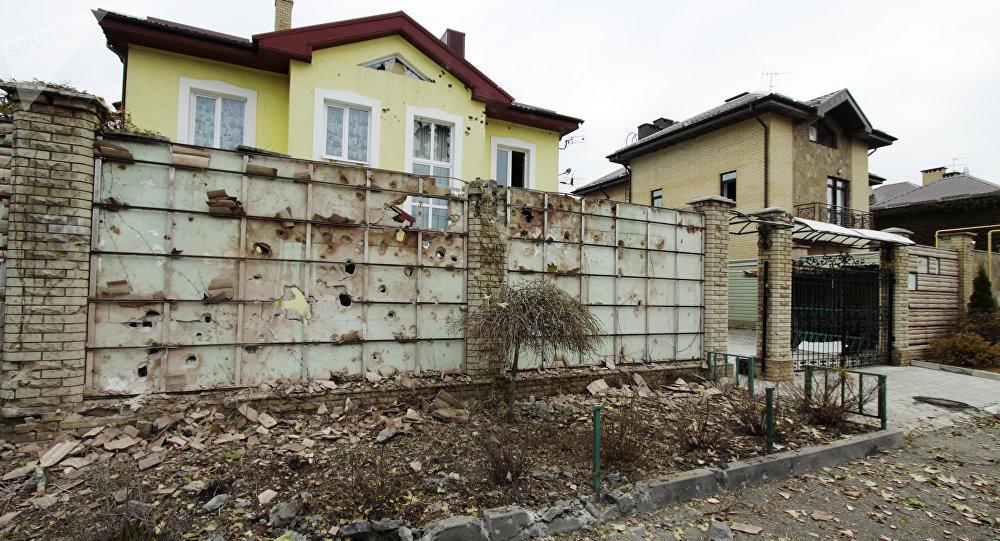 Edificio destruido en Donetsk (archivo)
