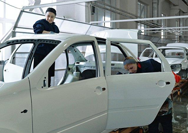 Línea de producción de los Lada Granta