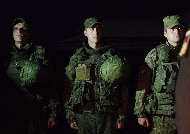 Militares de la Flota del mar Negro de Rusia que regresaron de Siria (imagen referencial)
