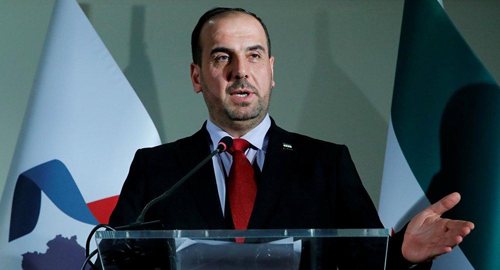 Jefe de la delegación opositora siria en las consultas de Ginebre, Naser Hariri