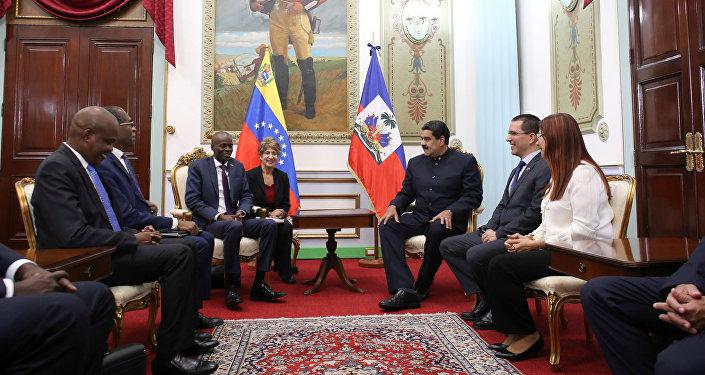 Presidente de Haití, Jovenel Moïse, y presidente de Venezuela, Nicolás Maduro