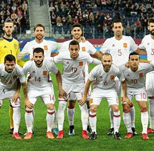 La selección de España, el 14 de noviembre de 2017