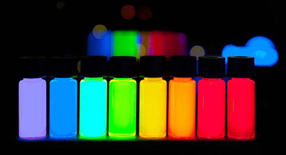 Puntos cuánticos con una máxima emisión en pasos de 10 nm (imagen referencial)
