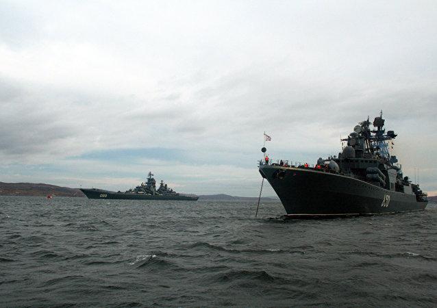 Buques de la Flota del Norte rusa