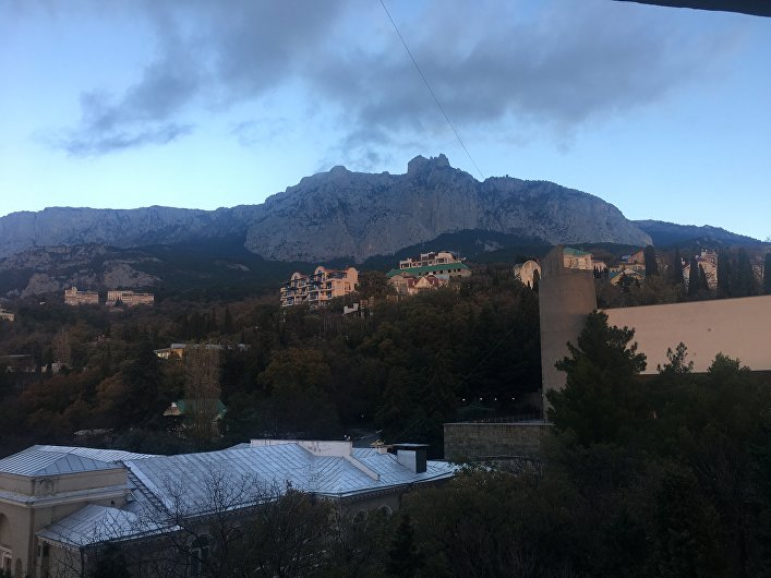 La montaña Ai-Petri en Crimea