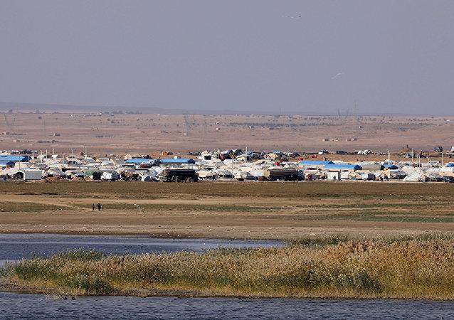Un campo de refugiados en Siria (imagen referencial)
