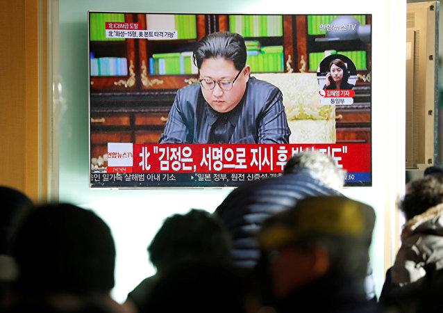 Las noticias sobre el lanzamiento del misil Hwasong-15 por Corea del Norte
