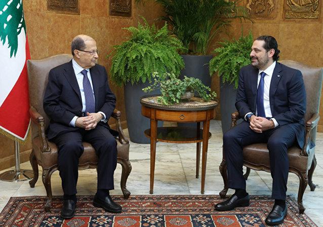 Presidente de Líbano, Michel Aoun, y primer ministro del país, Saad Hariri