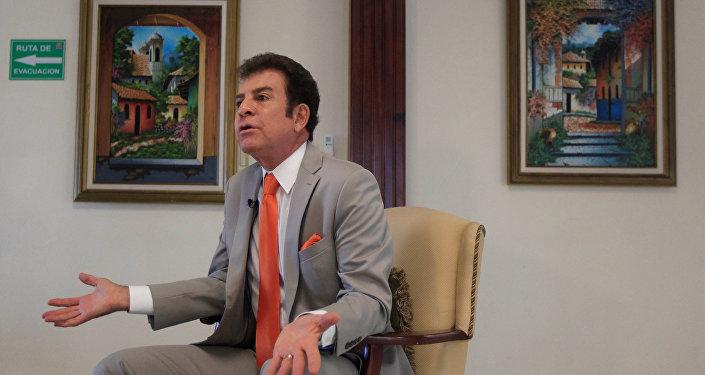 El líder de la Alianza de Oposición de Honduras, Salvador Nasralla