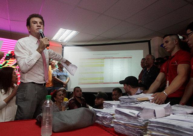 Salvador Nasralla, el candidato opositor hondureño
